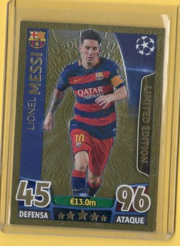 MESSI Edición Limitada ORO TOPPS Match Attack Champions League 2016