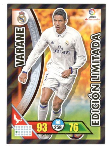 VARANE (R. Madrid)  Edición Limitada ADRENALYN 2017 16/17