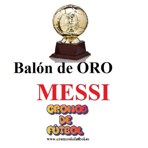 MESSI  Balón de ORO ADRENALYN XL 2018/19   panini 2019