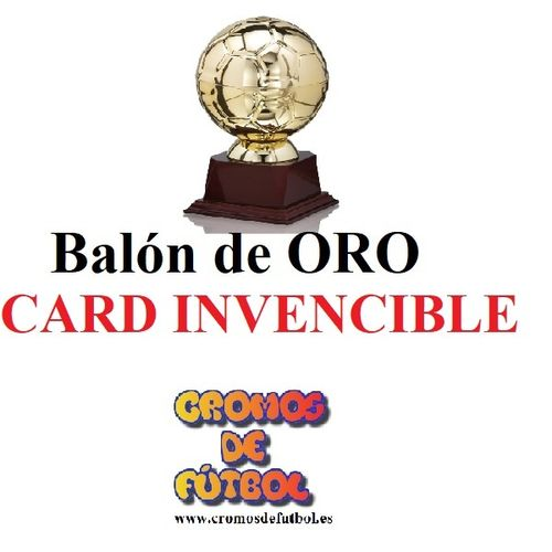 Card INVENCIBLE  Balón de ORO ADRENALYN XL 2018/19   panini 2019