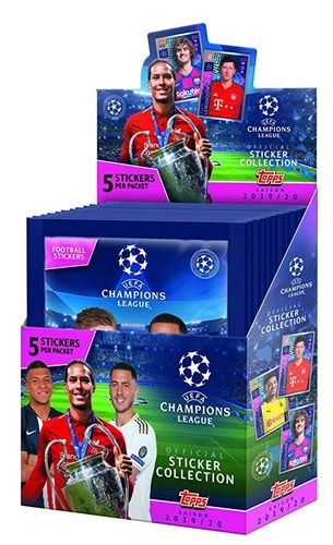 1 Caja 30 sobres x 5 cromos TOPPS CHAMPIONS STICKERS 2019 2020