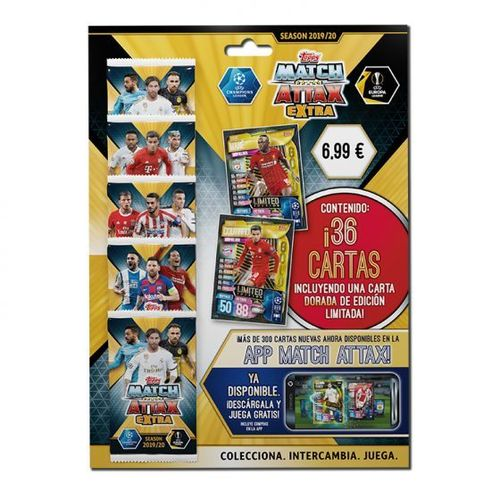 UEFA Champions League Match Attax EXTRA  MULTI PACK limitada ORO