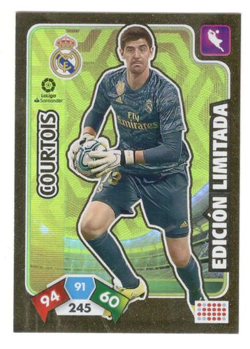 Courtois (Real Madrid) Sobre Premium Oro  ADRENALYN XL 2019 2020