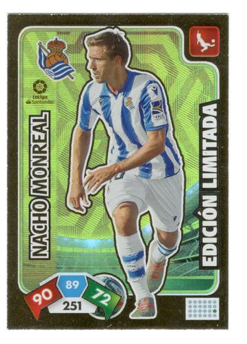 Nacho Monreal (Real Sociedad) Revista Jugón 156 ADRENALYN XL 2019 2020